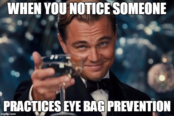 How to prevent eye bags